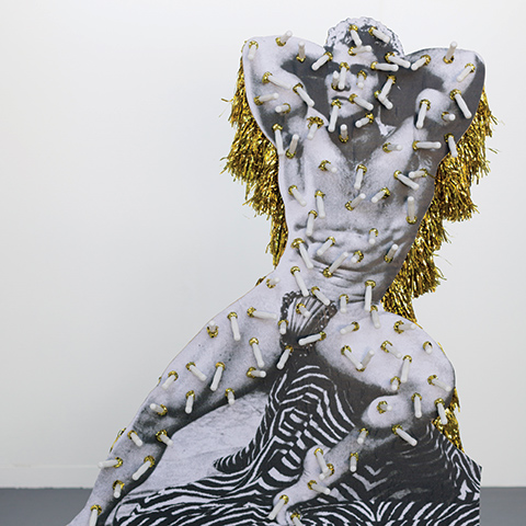 Jake Preval, Beefcake Comedown (Gold), 2014, © Jake Preval/Licensed by Viscopy. Photo: Lauren Dunn.