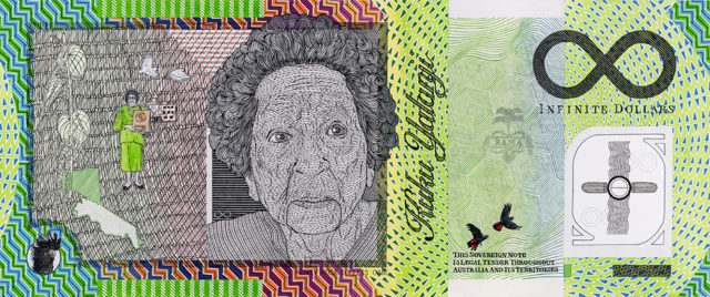 Ryan Presley, Blood Money – Infinite Dollar Note – Aunty Rose Colless OAM Commemorative (2019).
